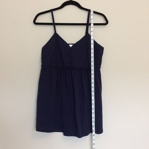 Navy blue maternity tank top